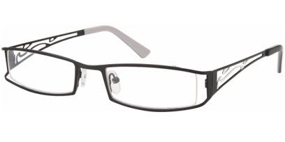 Semi Rimless Glasses 436 --> Black - White