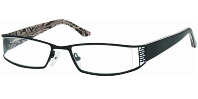 Semi Rimless Glasses 453 --> Black - White